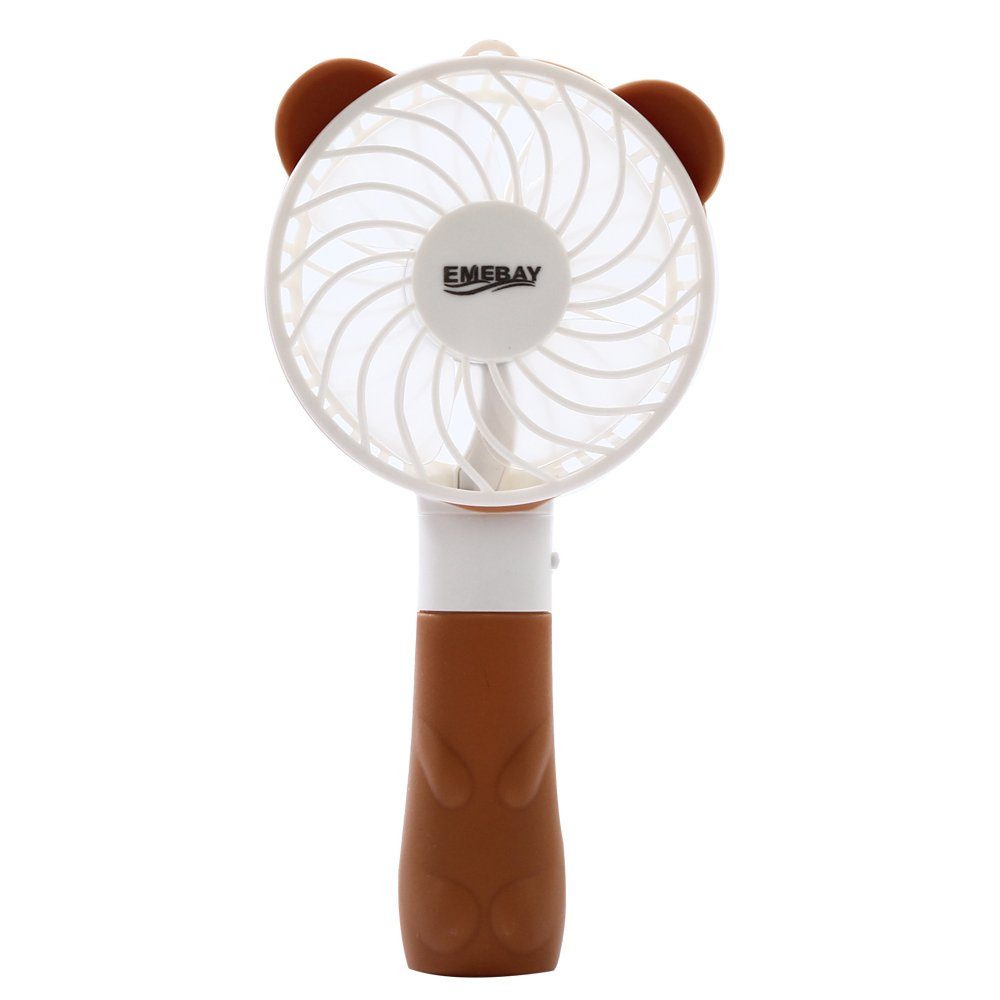 L/üfter ventilator Mini Ventilator Mini USB Fan EMEBAY Elektrische pers/önlichen Fan mit faltbarem Fans Hand Bar Desktop-Fan Handf/ächer Braun Elektrische Personal Fans