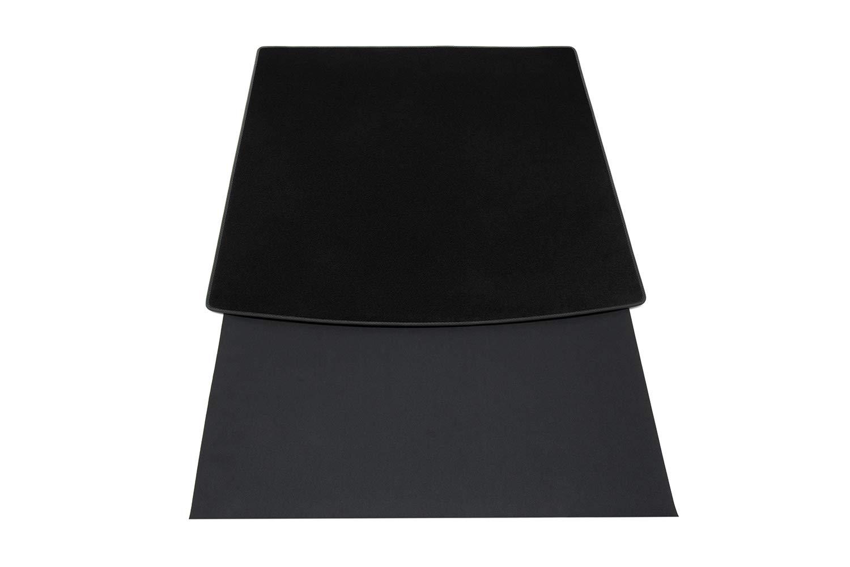Sto/ßtangenschutz Naht:Schwarz Steppn/ähten teileplus24 BKF-004 2-teilige Auto Kofferraummatte mit Ladekantenschutz