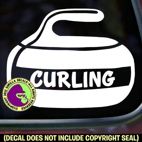 CURLING Stone Sport Game Player Vinyl Decal Sticker F