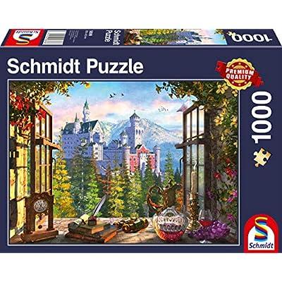 Schmidt Spiele 58386 Puzzle Da 1000 Pezzi Soggetto Occhio Sul Castello Delle Favole Multicolore