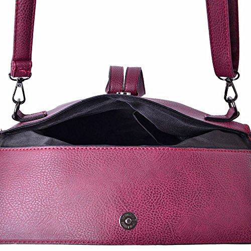 Removable TJC Red Crossbody Strap Adjustable with 5x6 Cm 24x19 Bag vwx1Fqw4