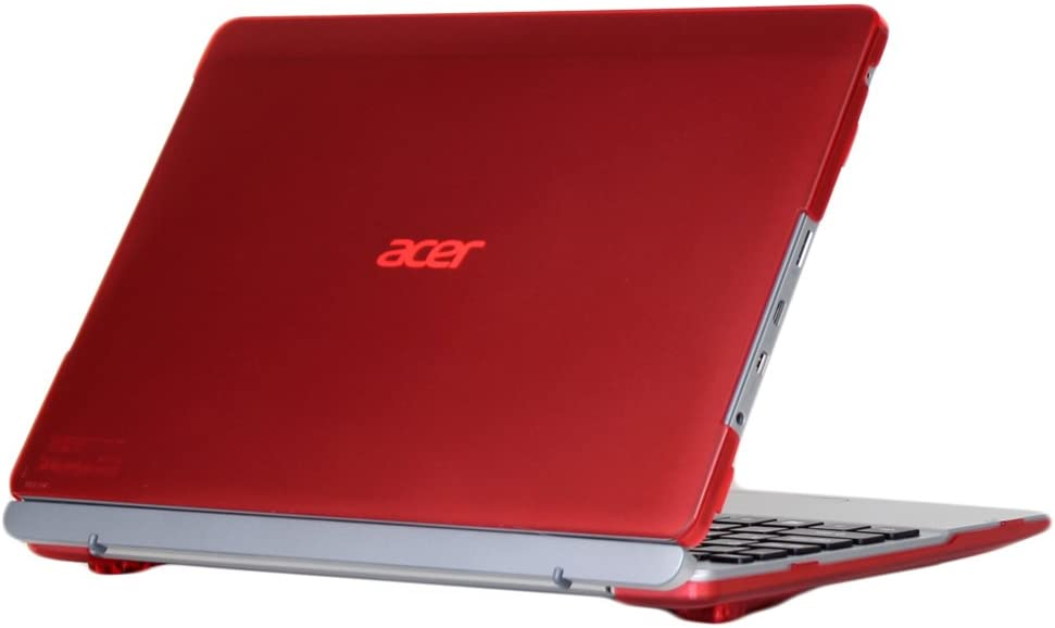 mCover Hard Shell Case for Acer Aspire Switch 10 SW5-012 10.1-inch Series Convertible Tablet - RedONLY Works for Listed Model