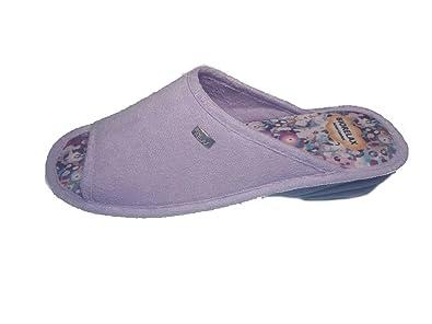 2c0c6e9f59357 Biorelax Pantoufles Chaussures Femme Printemps-Eté 2018 Mod. Rizo Talon 3  cm Bout Ouvert Couleurs Aguamar-Lilas - Corail Tailles DE 35 à 41   Amazon.fr  ...