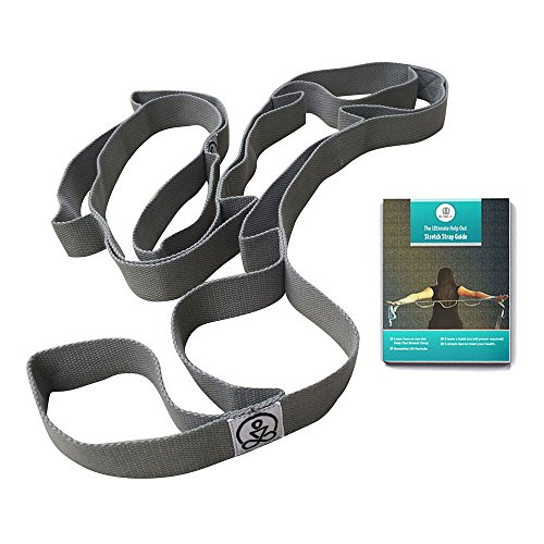 Stretch Strap by The Work(in) Multi- Loop exercise strap. For physical therapy, yoga, dance, pilates. Free E-book, bag and videos included