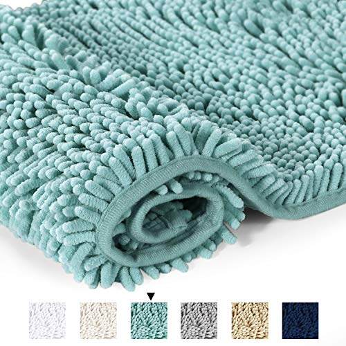 (Bathroom Rug Shag Shower Mat Machine-Washable Plush Bath Mats with Water Absorbent Soft Microfibers, 20