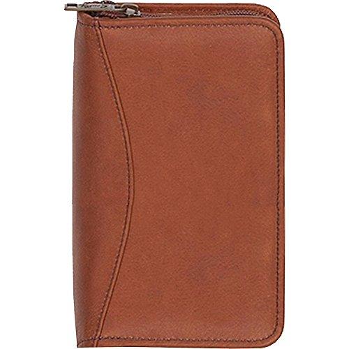 - Scully Plonge Leather Zip Pocket Planner (Tan)