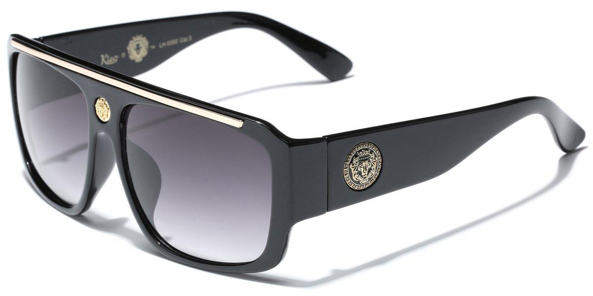 478181d73f Amazon.com  Kleo Flat Top Hip Hop Rapper Retro Aviator Sunglasses  Sports    Outdoors