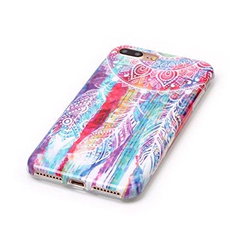 Voguecase® für Apple iPhone 7 Plus 5.5 hülle, Schutzhülle / Case / Cover / Hülle / TPU Gel Skin (Bunte Graffiti 01) + Gratis Universal Eingabestift