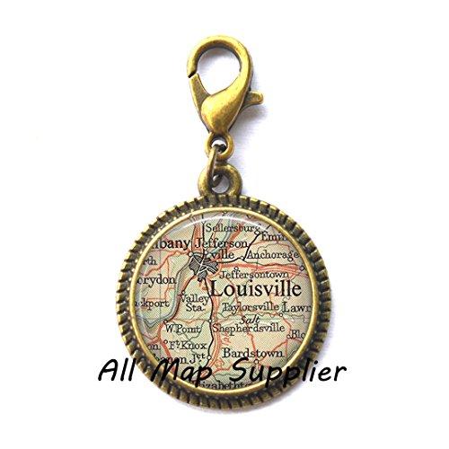 Beautiful Zipper Pull,Louisville, Kentucky map Charming Zipper Pull, Louisville map Zipper Pull, Louisville map jewelry resin Charming Zipper Pull,AO149 (Halloween City Lexington Ky)