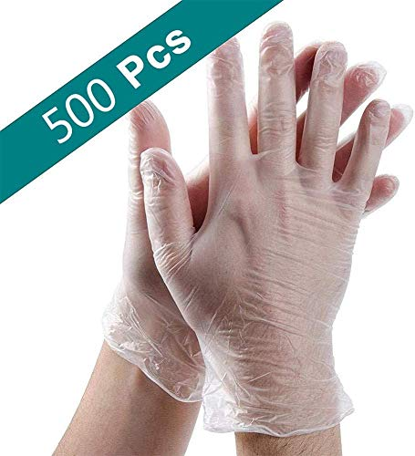 cheap4uk 500 Pack Disposable Clear Plastic Gloves,Plastic Disposable Food Prep Glove,Disposable Work Gloves for Cooking…