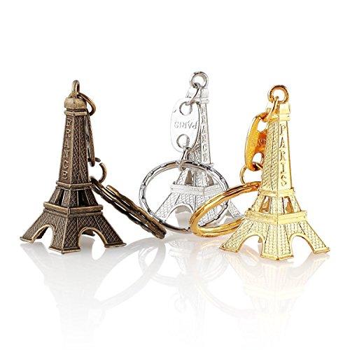 - 12pcs/lot Paris France Keychain 3d Eiffel Tower Favors French Souvenirs Paris Party Decorations Key Ring Christmas Gift