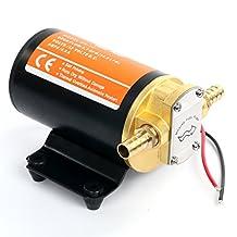 Amarine-Made 12v Scavenge Impellor Gear Pump- For Water Diesel Fuel Scavenge Oil Transfer (Black)