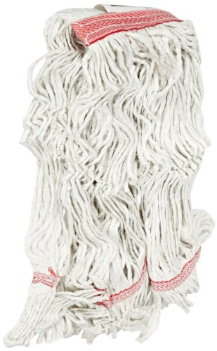 Carlisle 369425B00 Loop-Ended Narrow Band Mop Head Only, Large, Red (Pack of 12) by Carlisle (Image #1)