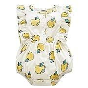 BOBORA Toddler Baby Girls Romper Bodysuit Apple Pattern Outfit