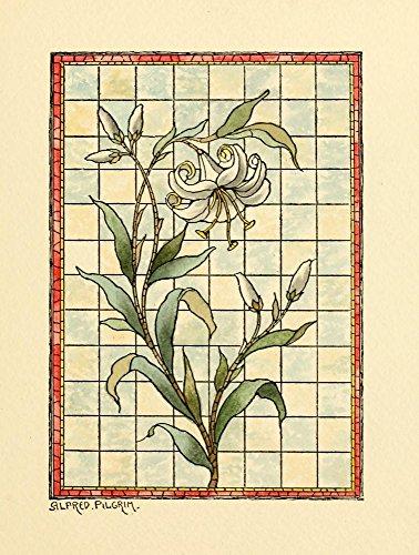 Belcher Mosaic Glass 1886 6 Poster Print by Alfred Pilgrim (18 x 24)