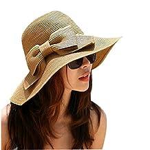 Changeshopping(TM)Bohemian Summer Sun Floppy Hat Straw Beach Wide Large Brim Cap