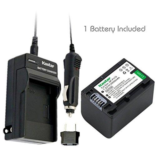 Kastar Battery (1-Pack) and Charger Kit for Sony NP-FH100 NP-FH70 TRV TRV-U and DCR Series DCR-DVD DCR-HC DCR-SR
