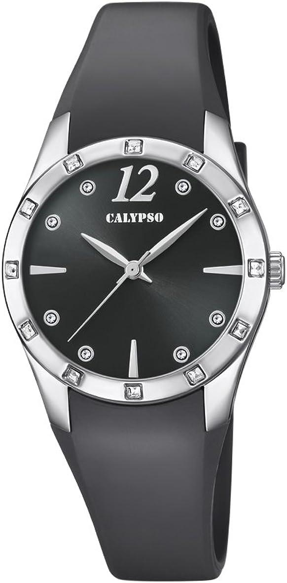 Calypso Reloj Análogo clásico para Mujer de Cuarzo con Correa en Plástico K5714/4