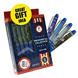 Presidential Souvenir Gift Set, Collection Of 4 Custom Designed Action Floating Pens With Free Pen Display Stand