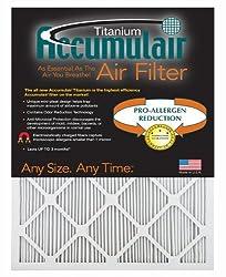 Accumulair Titanium 20x22x1 (19.5x21.5) High Efficiency Allergen Reduction Air Filter/Furnace Filter (6 Pack)