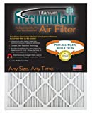 Accumulair Titanium 23.5x23.5x1 (23.1x23.1) High Efficiency Allergen Reduction Air Filter/Furnace Filters (2 pack)