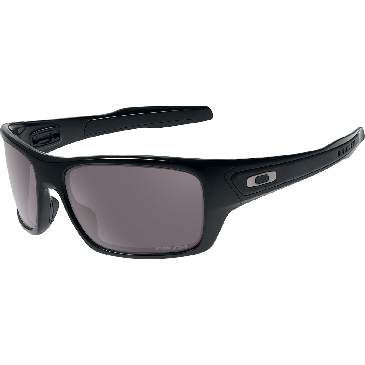 Oakley Men's OO9263 Turbine Rectangular Sunglasses, Polished Black/Prizm Daily Polarized, 65 mm by Oakley