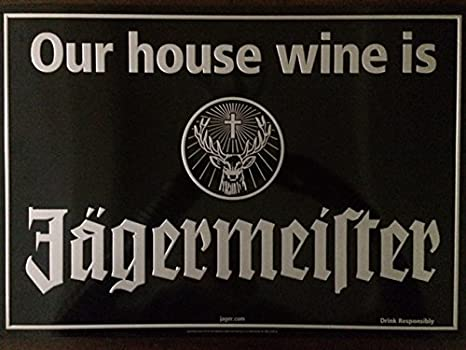 Amazon.com: Nuestra casa Vino ES Jagermeister Tin Sign: Home ...