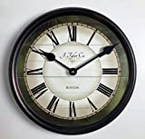 Carolina Green Wall Clock, Available in 8 Sizes, Most Sizes Ship 2-3 Days, Whisper Quiet.