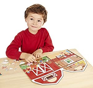 Melissa & Doug Puffy Sticker Play Set - On the Farm - 52 Reusable Stickers, 2 Fold-Out Scenes from Melissa & Doug