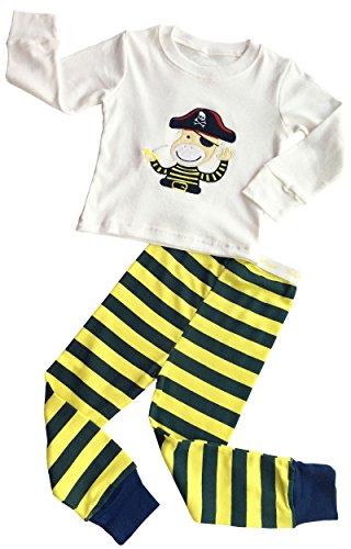 BlcSwan Baby Boy Cute Pirate 2 Pcs Pajamas Set Shirt + Long - Cute Pirate