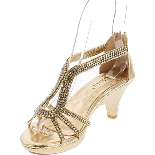 70541d5058d Delicacy Angel 36 Women Dress Sandal Rhinestone Low Heel Pumps - Buy Online  in Oman.