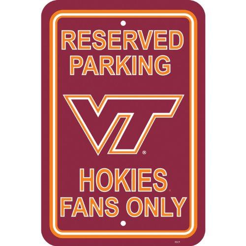 (Flagpole To Go NCAA Virginia Tech Hokies Parking Sign)