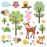 Friendly Forest Decorative Peel & Stick Wall Art Sticker Decals
