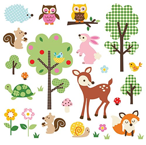 Deer Creek Corner (Friendly Forest Decorative Peel & Stick Wall Art Sticker Decals)
