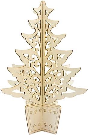 Amosfun Adornos para árboles de Navidad de Madera sobremesa Mini árbol de Navidad decoración de Mesa de Navidad Suministros para Fiestas navideñas: Amazon.es: Hogar