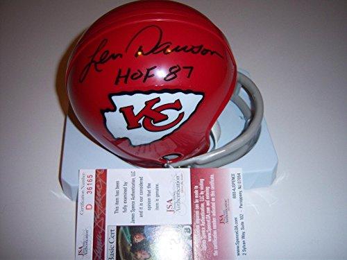 - Signed Len Dawson Mini Helmet - purdue coa - JSA Certified - Autographed NFL Mini Helmets
