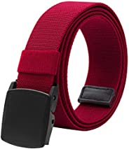 Men's Elastic Stretch Belts for Men with No Metal Plastic Buckle for Work Sp