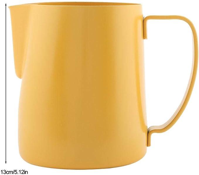 Nitrip 600cc Acero inoxidable Leche amarilla Jarra de espuma Latte ...