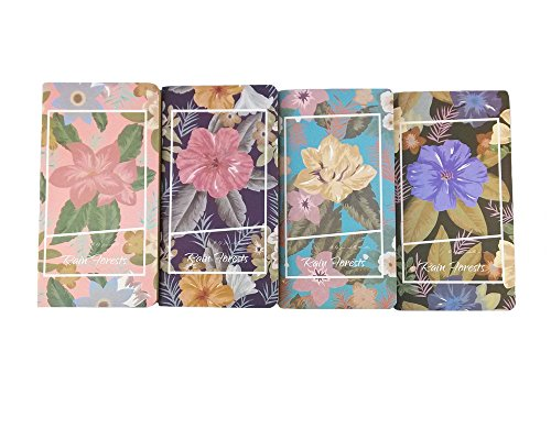 Honbay 4pcs Mix Color Rain Forests Series Pocket Notebook Mini Diary Journals - Rainforest Series