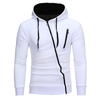 4f8dd2068c17 YANG-YI Mens Fashion Long Sleeve Hoodie Hooded Sweatshirt Tops Jacket Coat  Hot (M