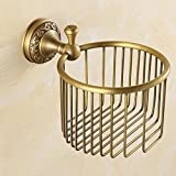 LINA@ Antique solid brass Towel rack in the bathroom paper towel basket washing liquid bottle of toilet paper storage shelf baskets