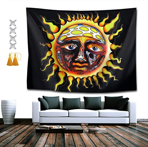 NiYoung Bohemian Mandala Hippie Hippy Decor Tapestries, Wall Hanging, Home Decor Art - Sublime Sun Wall Tapestry, Living Room, Bedroom, Dorm Room Tapestries, Tablecloth