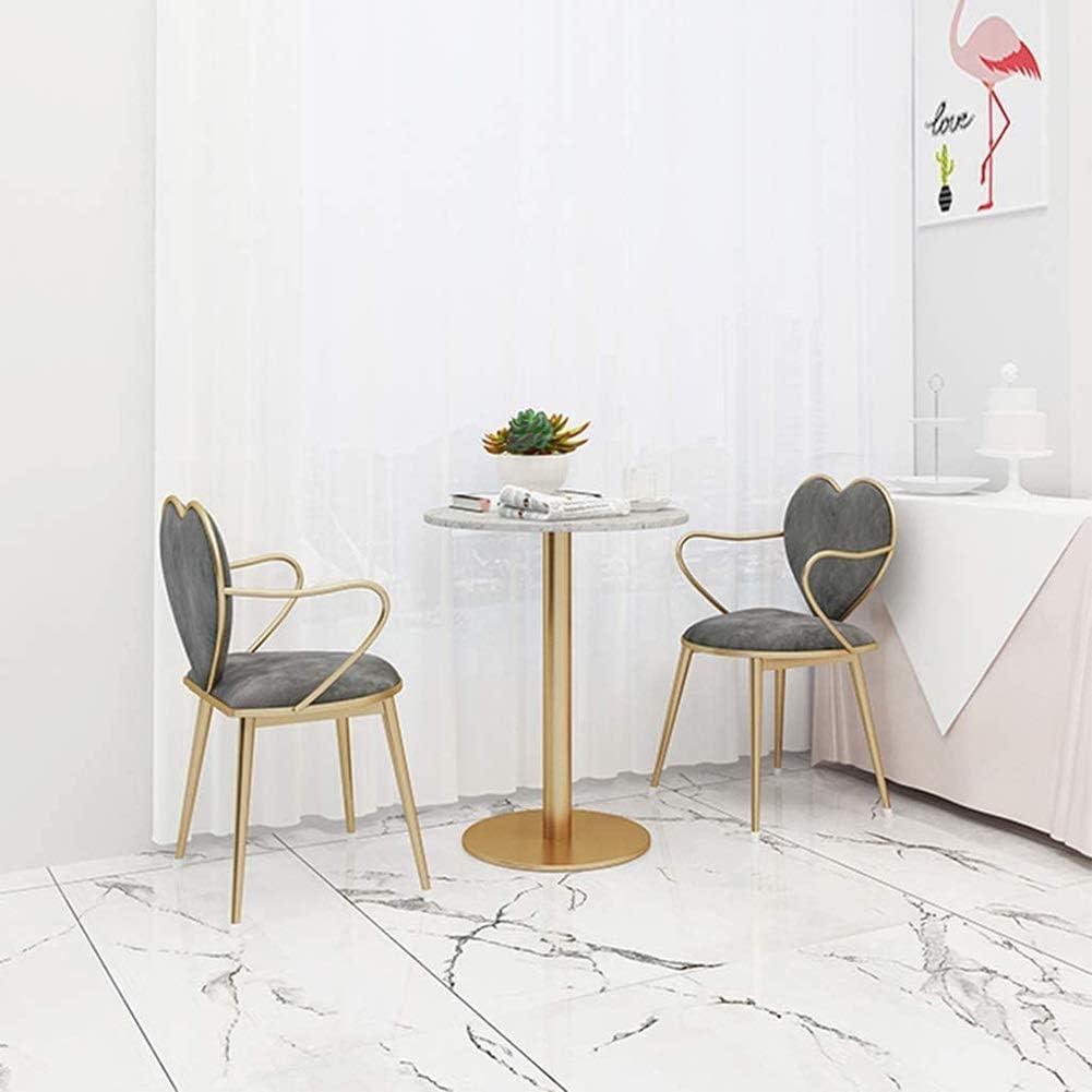 Chaise à dîner, doux et confortable chaise Dresser, Café Milk Tea Shop Loisirs Chair, Super Soft Velvet, for la peau, confortable et longue vie (Color : Gray) Gray