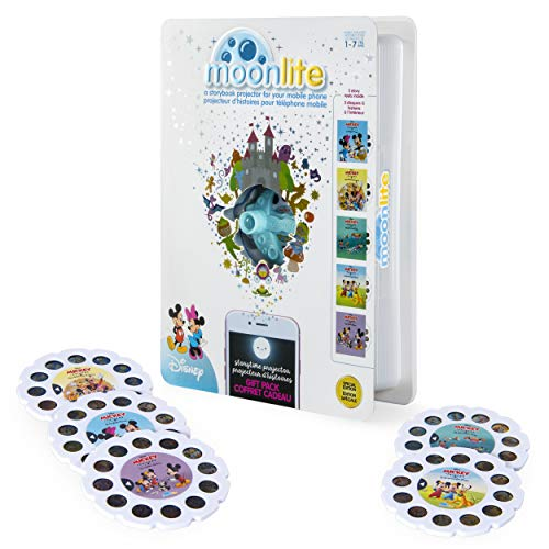 Moonlite - Special Edition Disney Gift Pack, Storybook Projector for Smartphones with 5 Story Reels, for Ages 1 and Up
