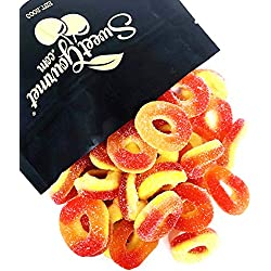 Trolli Peachie-O's peach rings gummi candy bulk (2Lb)