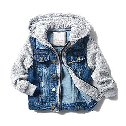 LJYH Boys' Basic Denim Jacket Trucker Jacket Stylish Fashion Trendy Coat (2t 3t Toddler Boys Jacket)
