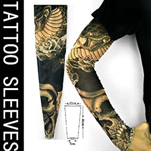 Ilv king flower arm men and women generic for Tattoo sleeves amazon
