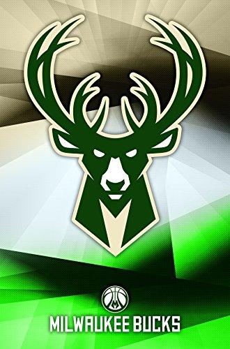 "Trends International Milwaukee Bucks Logo Wall Poster 22.375"" x 34"""