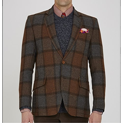 turnbull-asser-mens-brown-ashby-check-single-breasted-wool-jacket-42r