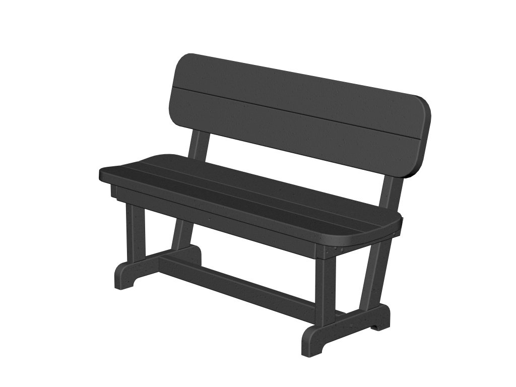 Brilliant Recycled Plastic Park Bench 48 By Polywood Frame Color Customarchery Wood Chair Design Ideas Customarcherynet